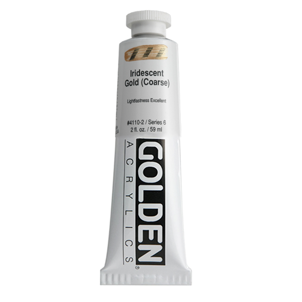 Golden Acrylic 2 Oz Iridescent Gold Coarse