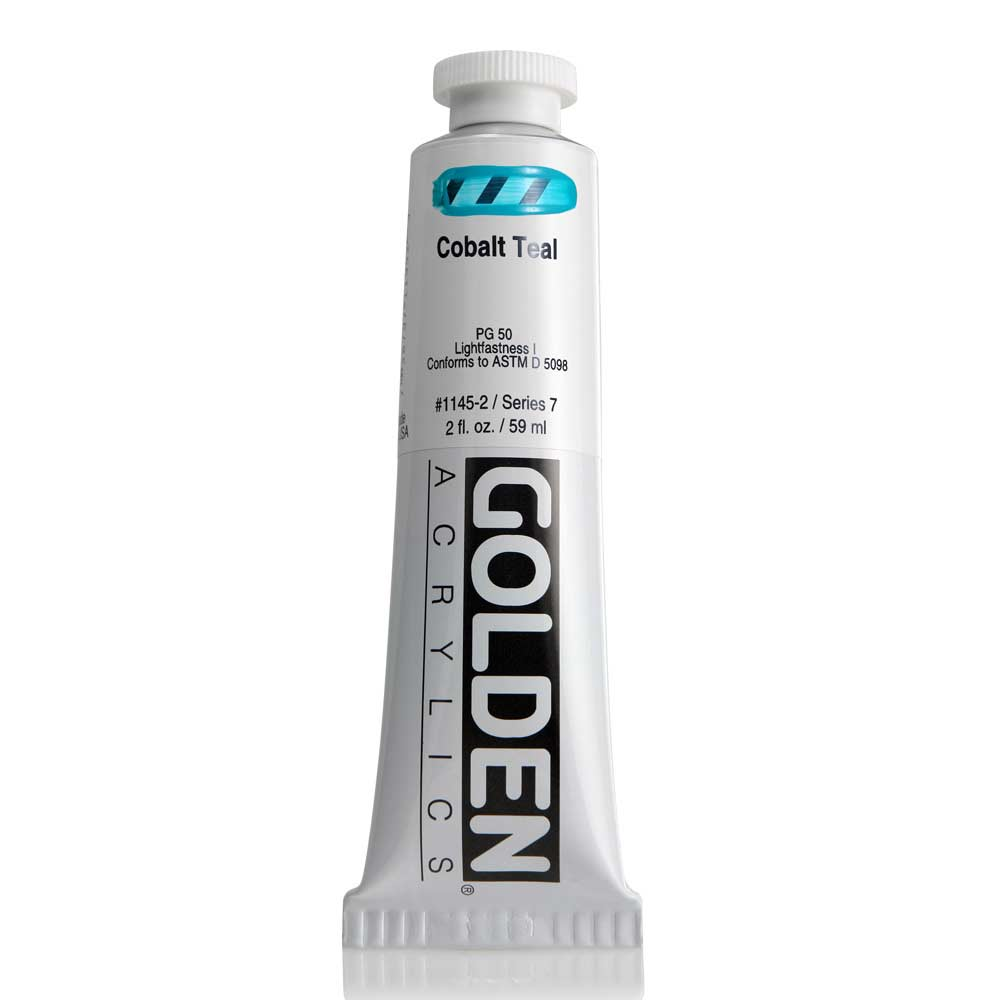 Golden Acrylic 2 Oz Cobalt Teal
