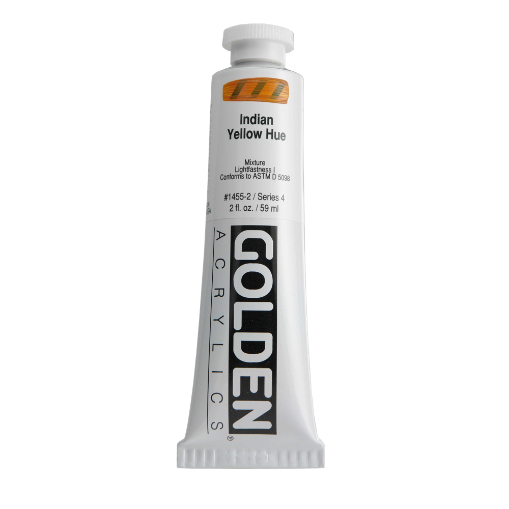 Golden Acrylic 2 Oz Indian Yellow Hue