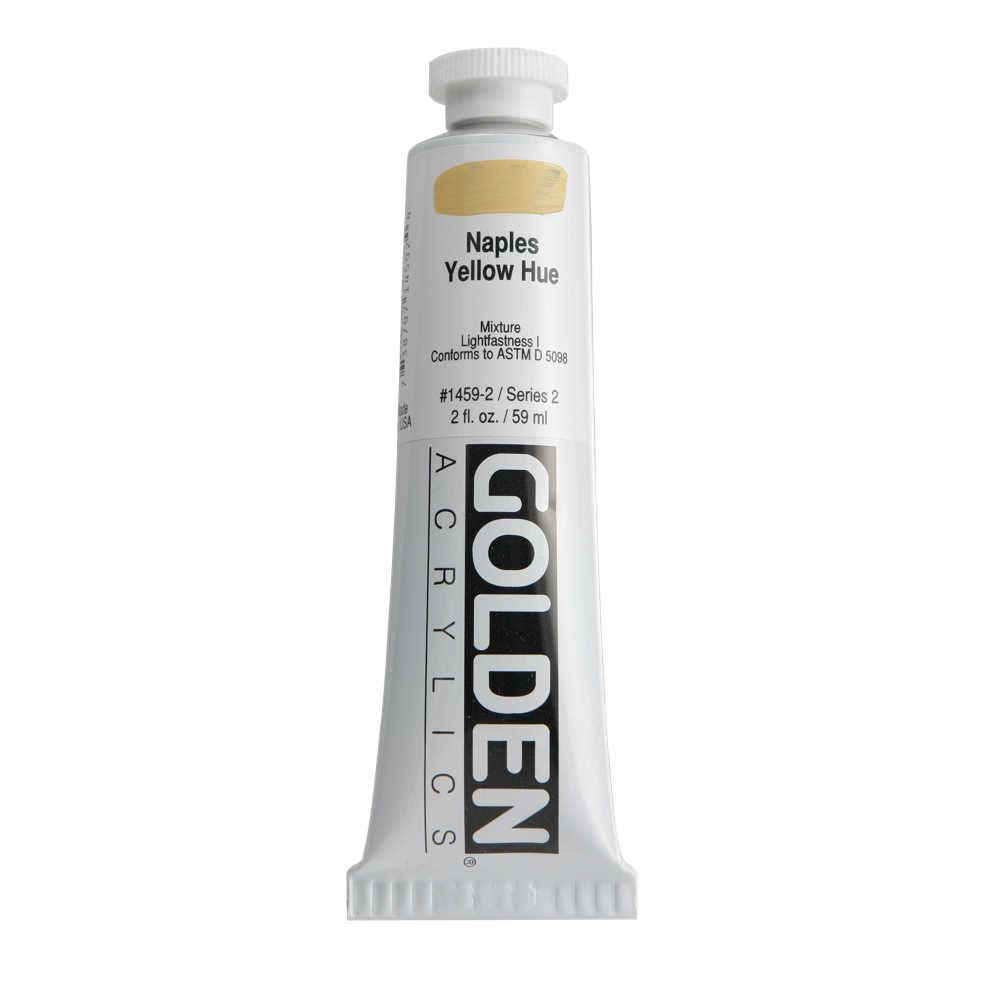 Golden Acrylic 2 Oz Naples Yellow Hue