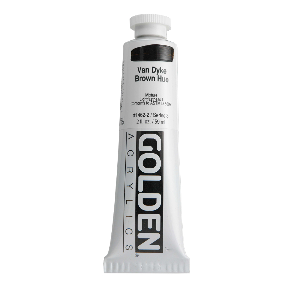 Golden Acrylic 2 Oz Vandyke Brown Hue