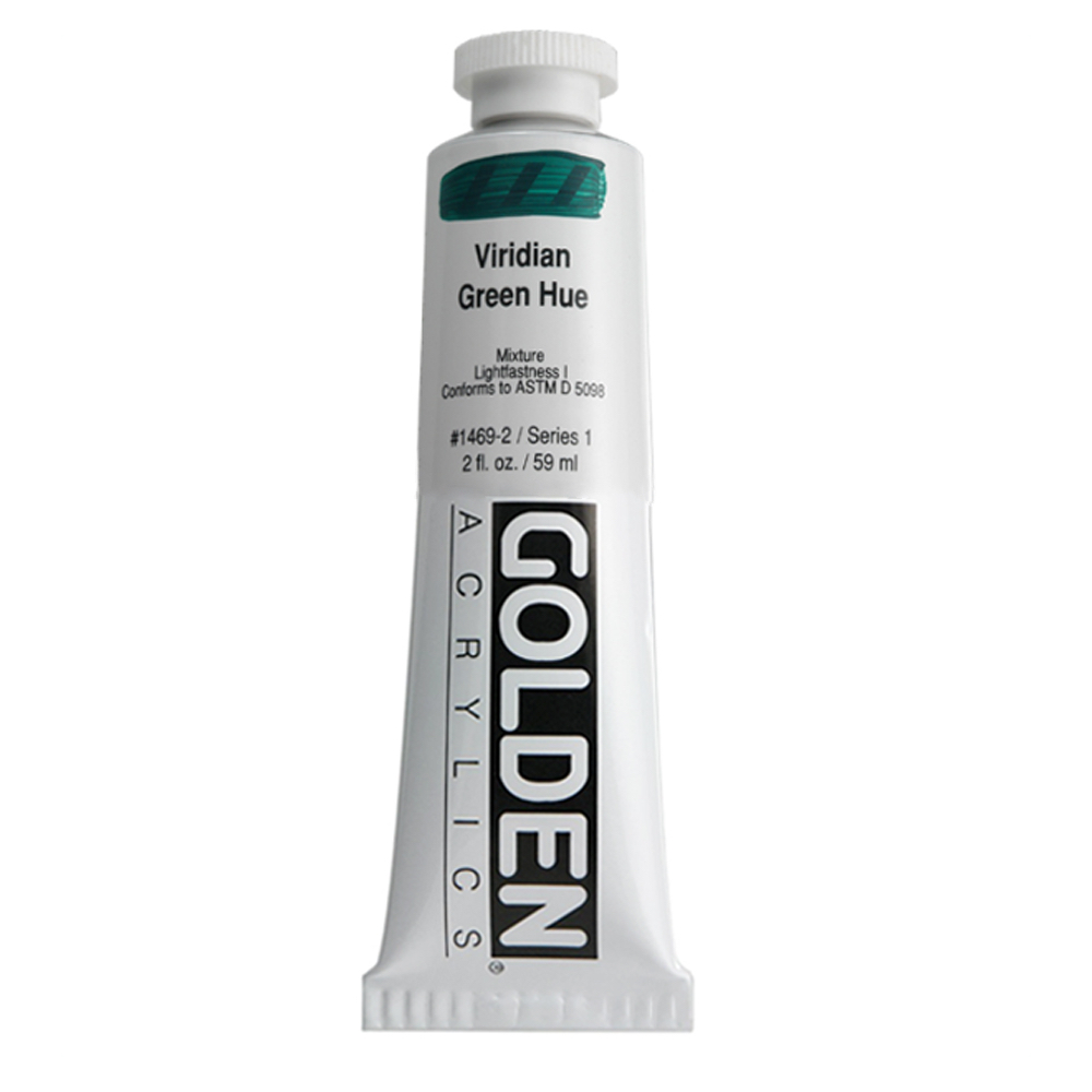 Golden Acrylic 2 Oz Viridian Green Hue