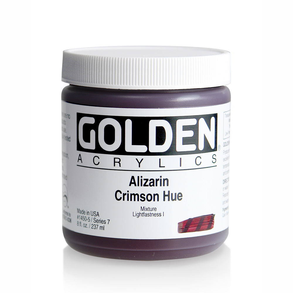 Golden Acrylic 8 Oz Alizarin Crimson Hue