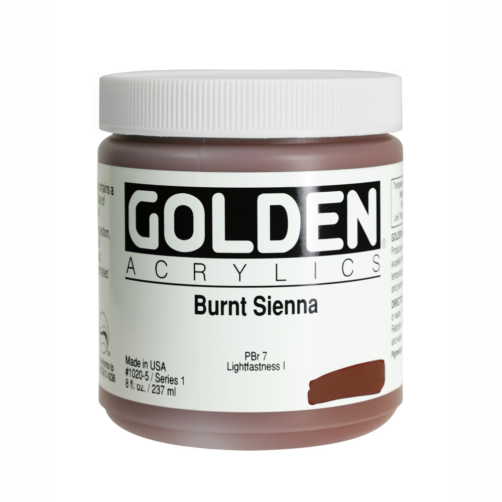Golden Acrylic 8 Oz Burnt Sienna