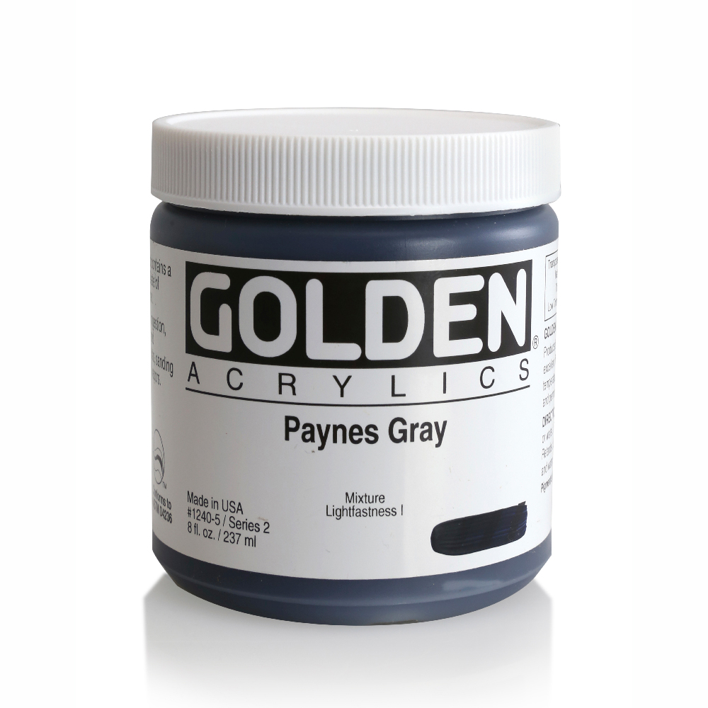 Golden Acrylic 8 Oz Paynes Gray