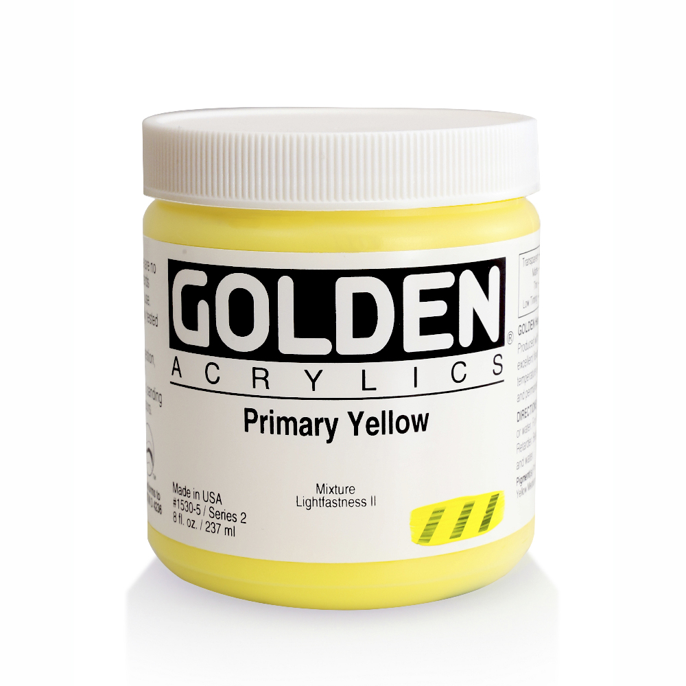 Golden Acrylic 8 Oz Primary Yellow