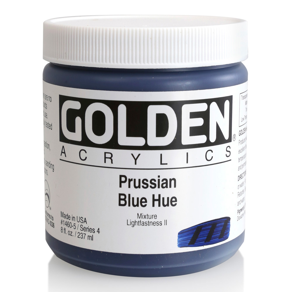 Golden Acrylic 8 Oz Prussian Blue