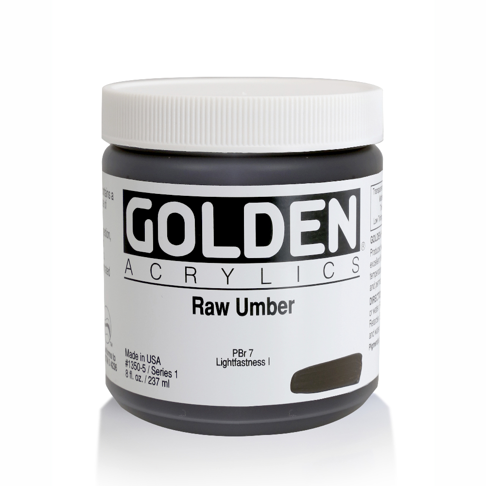 Golden Acrylic 8 Oz Raw Umber