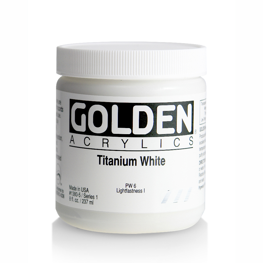 Golden Acrylic 8 Oz Titanium White