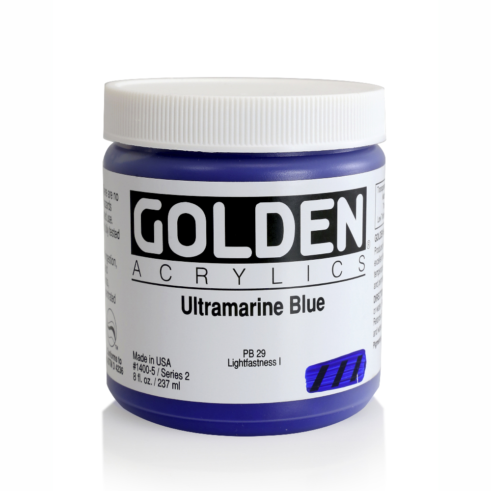 Golden Acrylic 8 Oz Ultramarine Blue