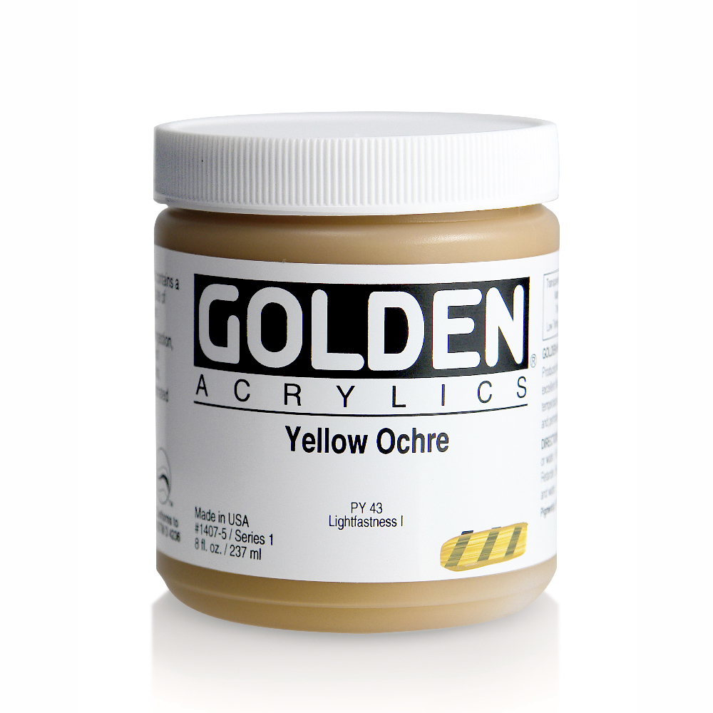 Golden Acrylic 8 Oz Yellow Ochre