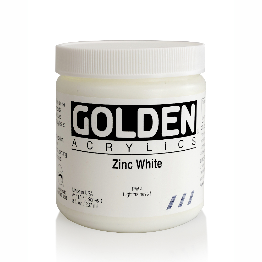 Golden Acrylic 8 Oz Zinc White
