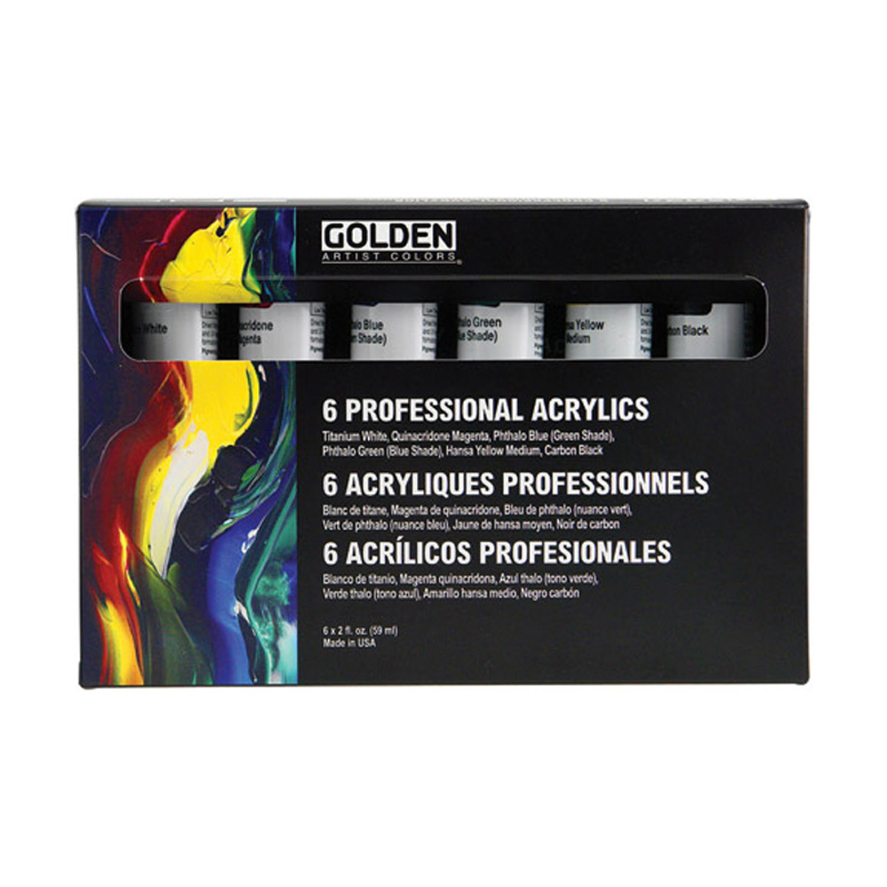 Golden Principal Heavy Body Acrylic 2Oz Set/6