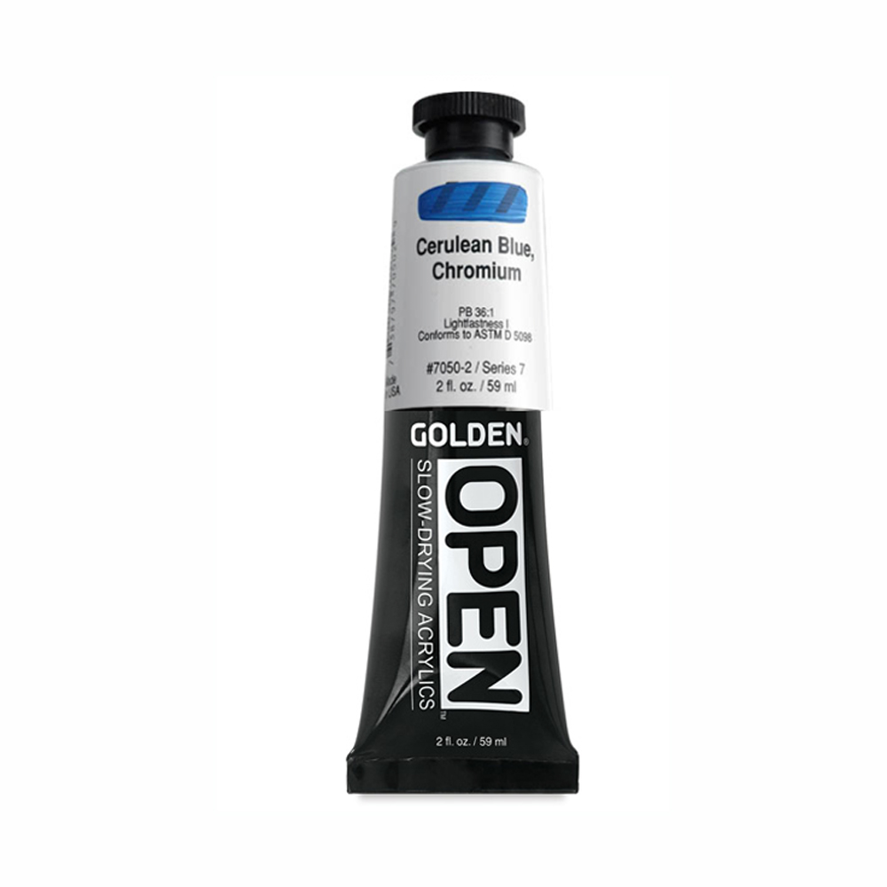 Golden Open Acryl 2 Oz Cerulean Blue Chrm