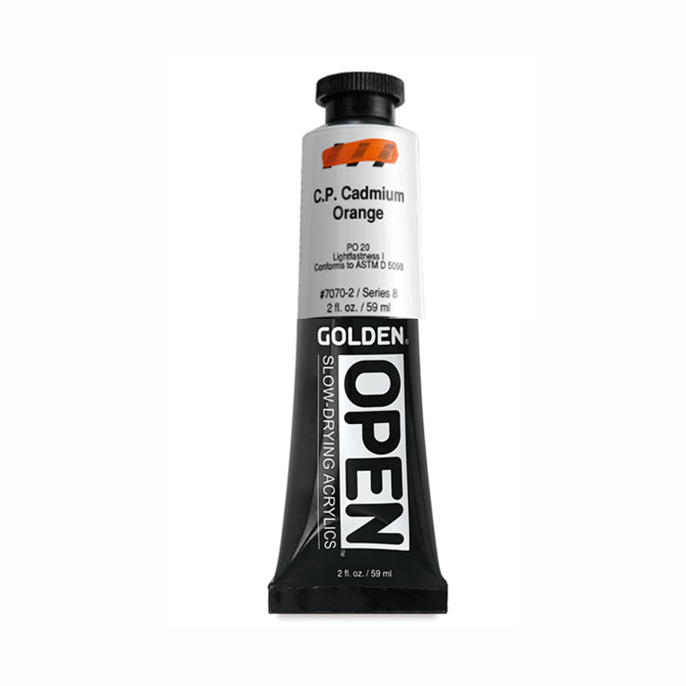 Golden Open Acryl 2 Oz C.p. Cadmium Orange