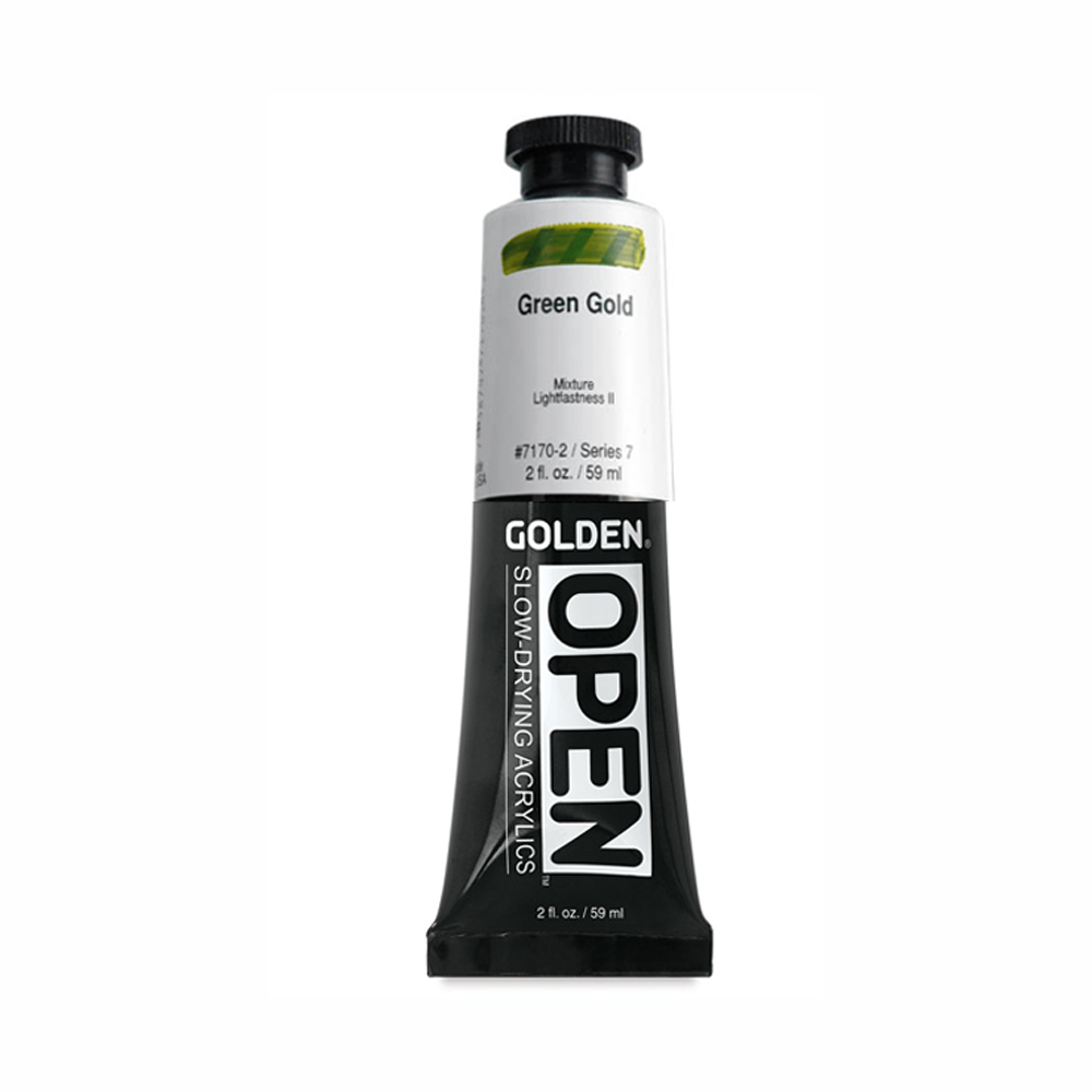 Golden Open Acryl 2 Oz Green Gold