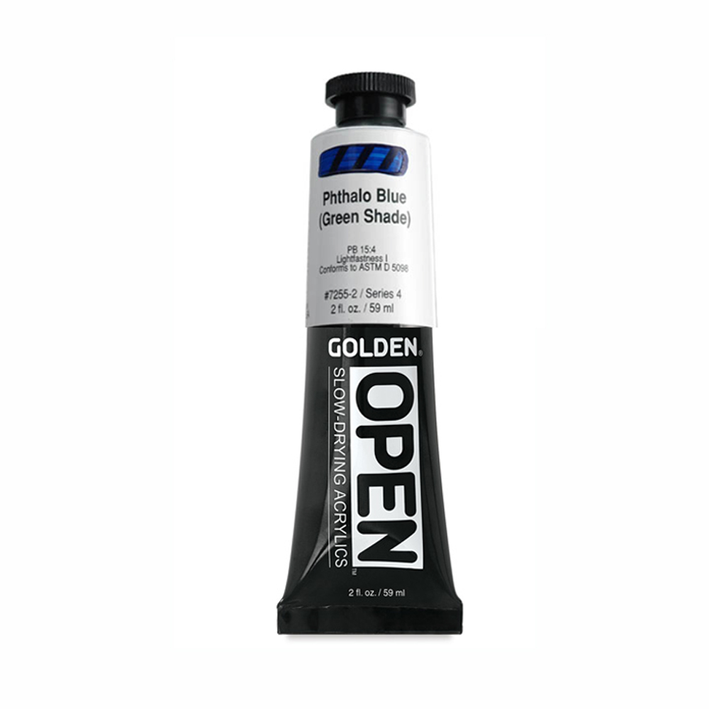 Golden Open Acryl 2 Oz Phthalo Blue/G.s.