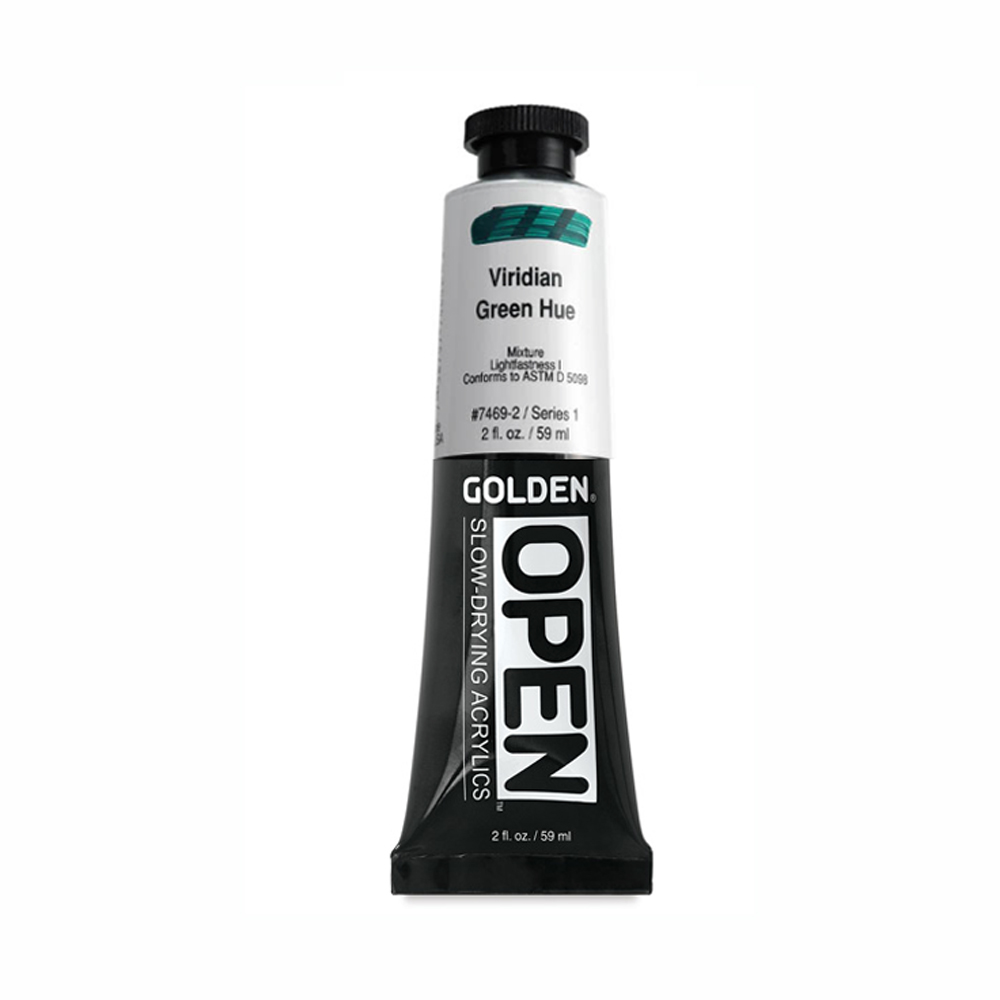 Golden Open Acryl 2 Oz Viridian Green Hue