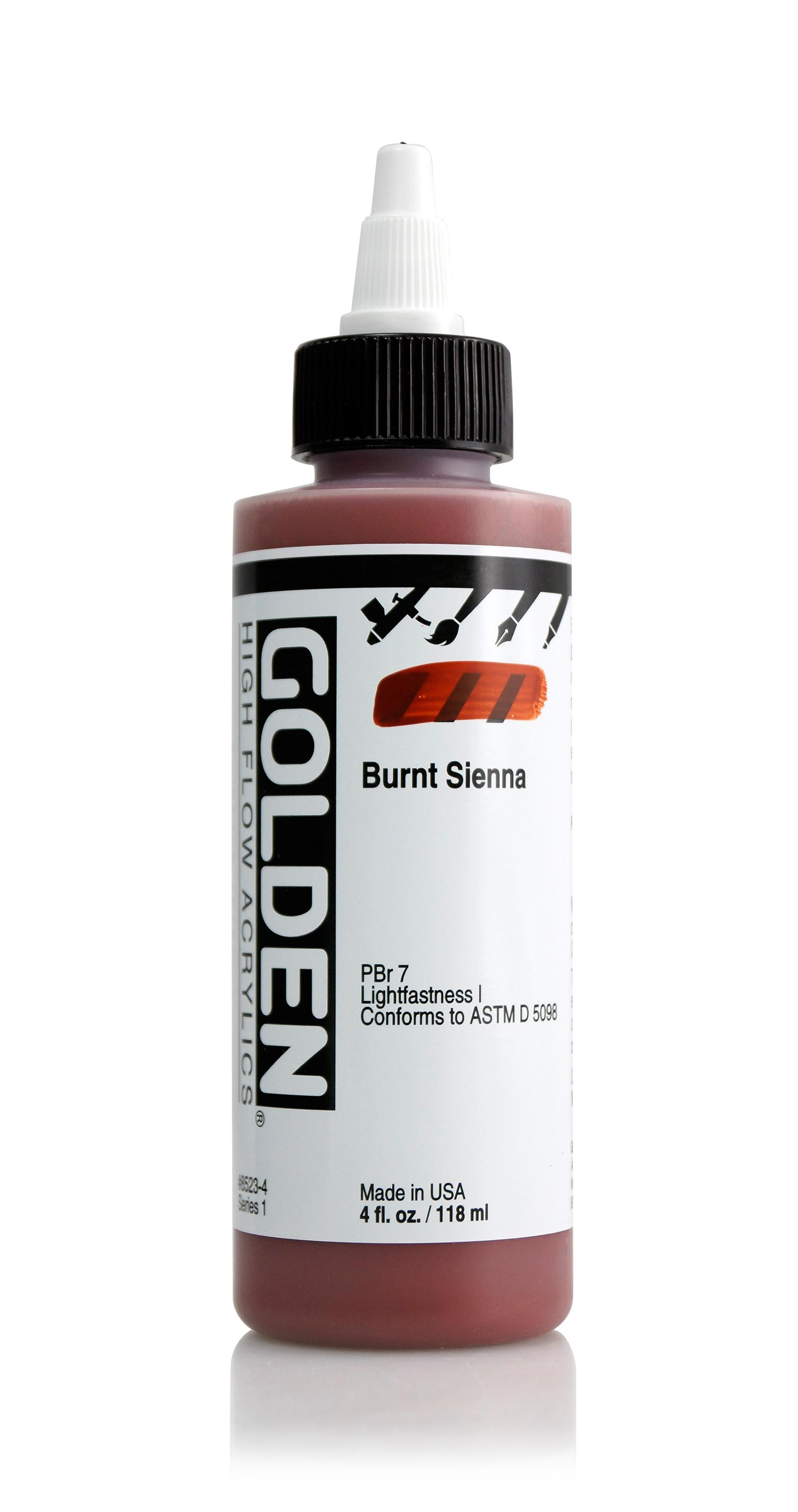 Golden High Flow 4Oz Burnt Sienna