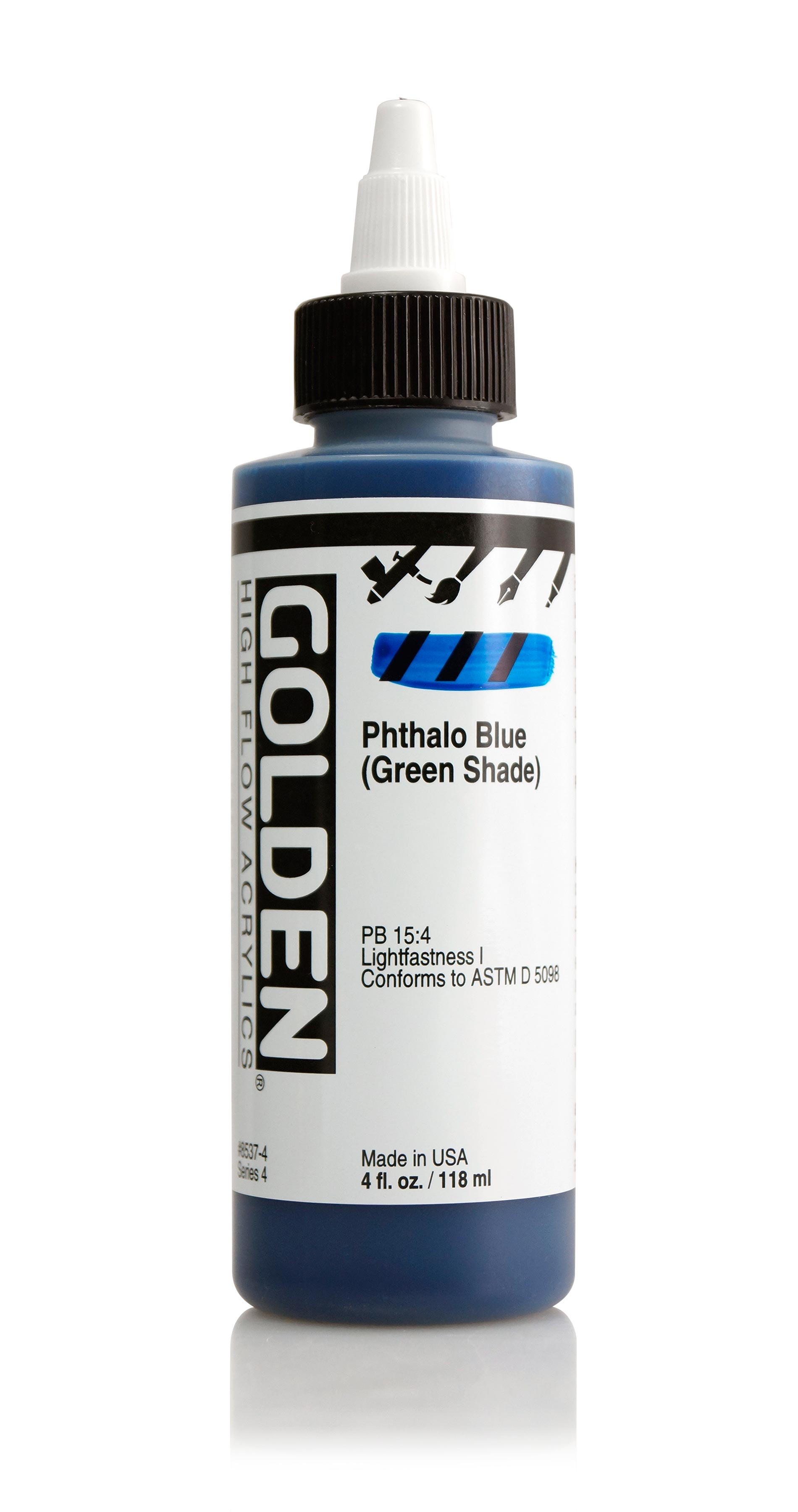 Golden High Flow 4Oz Phthalo Blue Gs