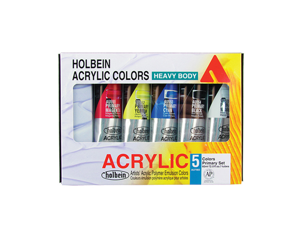 Holbein Hb Artist Acrylic Primary Set/5 60Ml