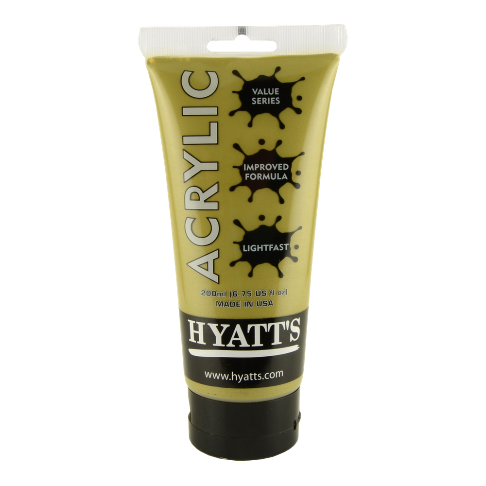 Hyatt's Acrylic 16 Oz Gold