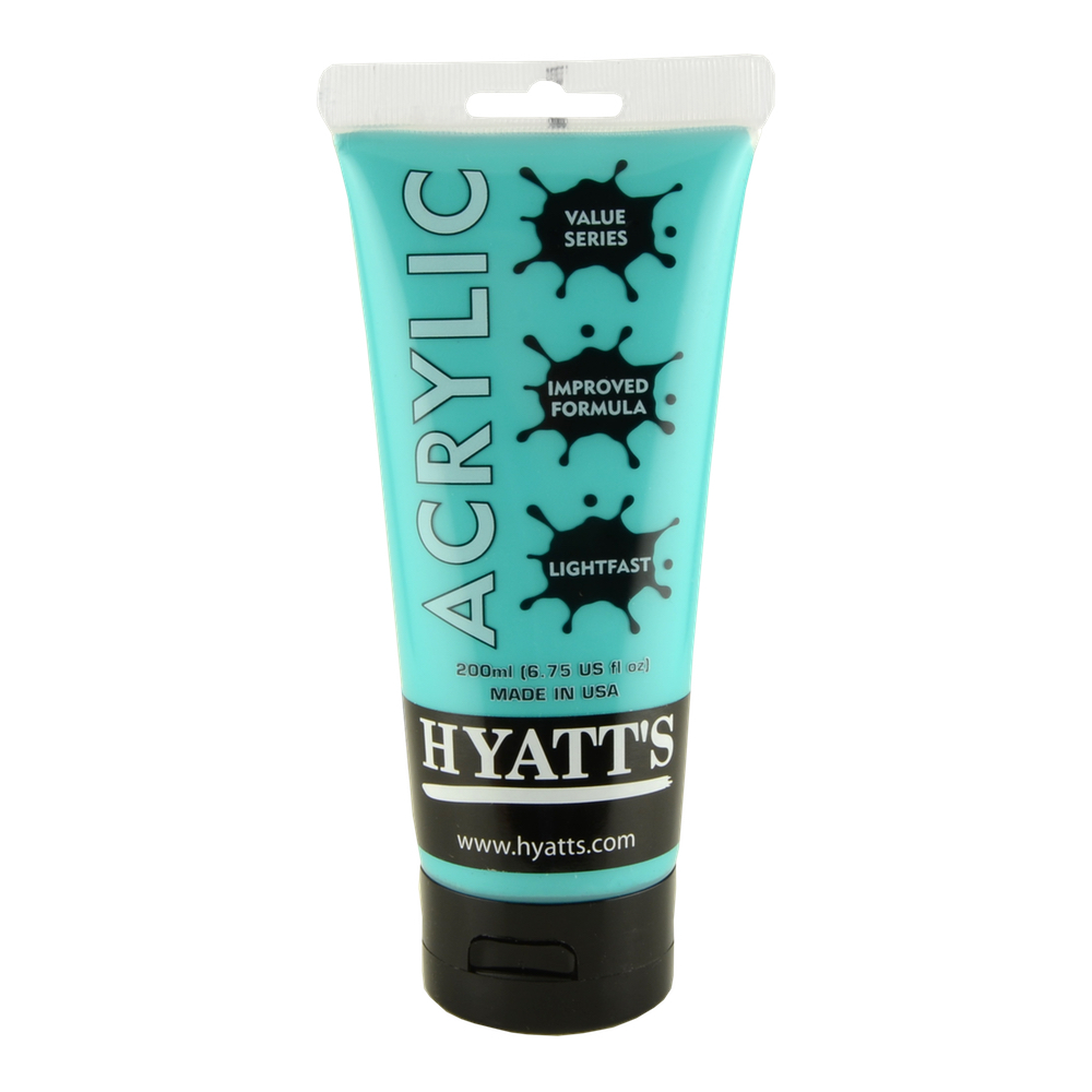 Hyatt's Acrylic 16 Oz Bright Aqua Green