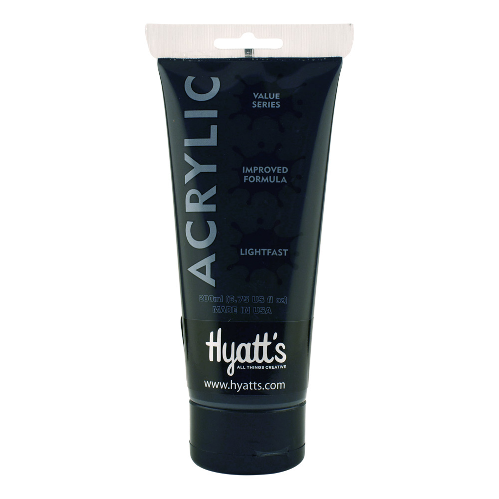 Hyatt's Acrylic 200Ml Ivory Black