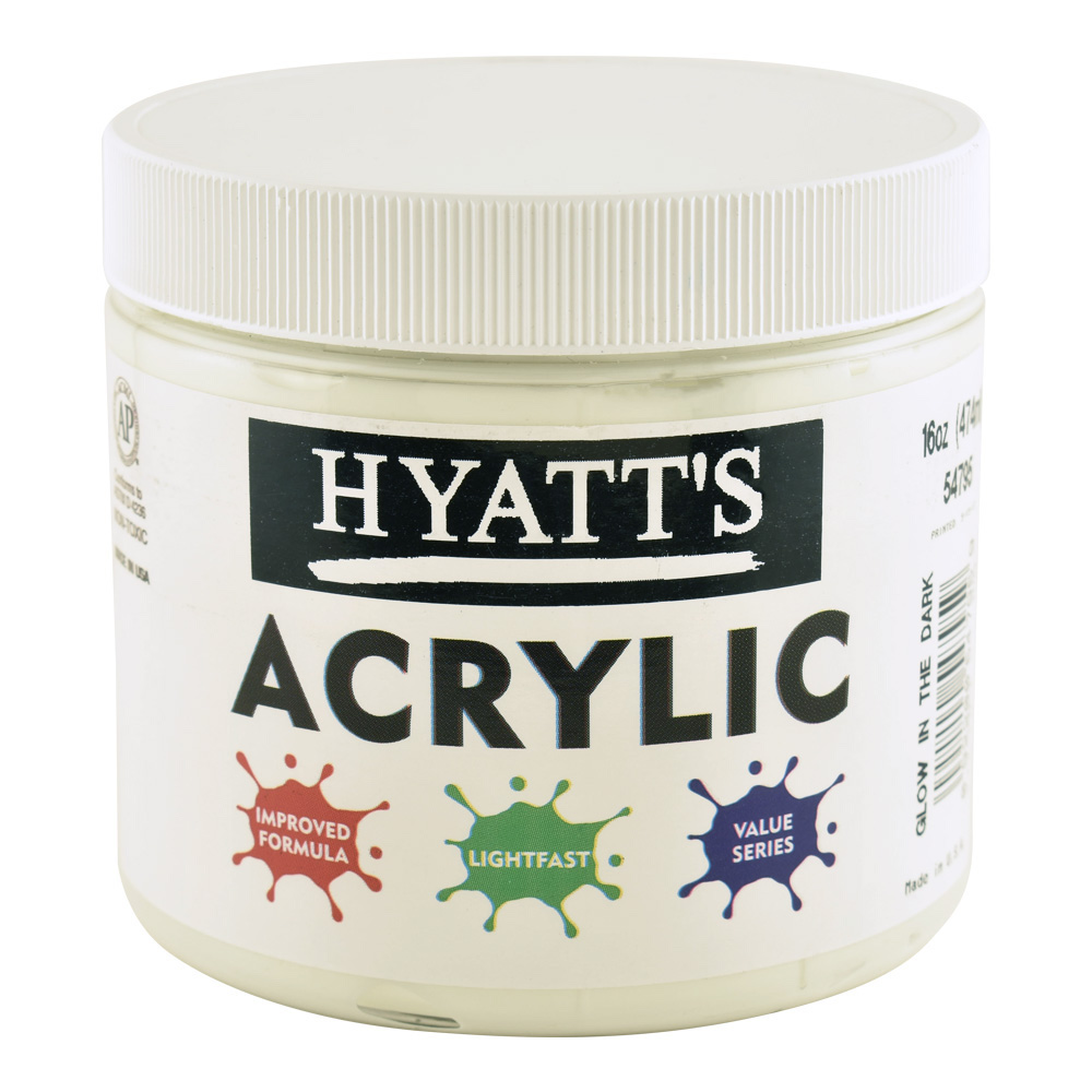 Hyatt's Acrylic 200ml Glow In The Dark