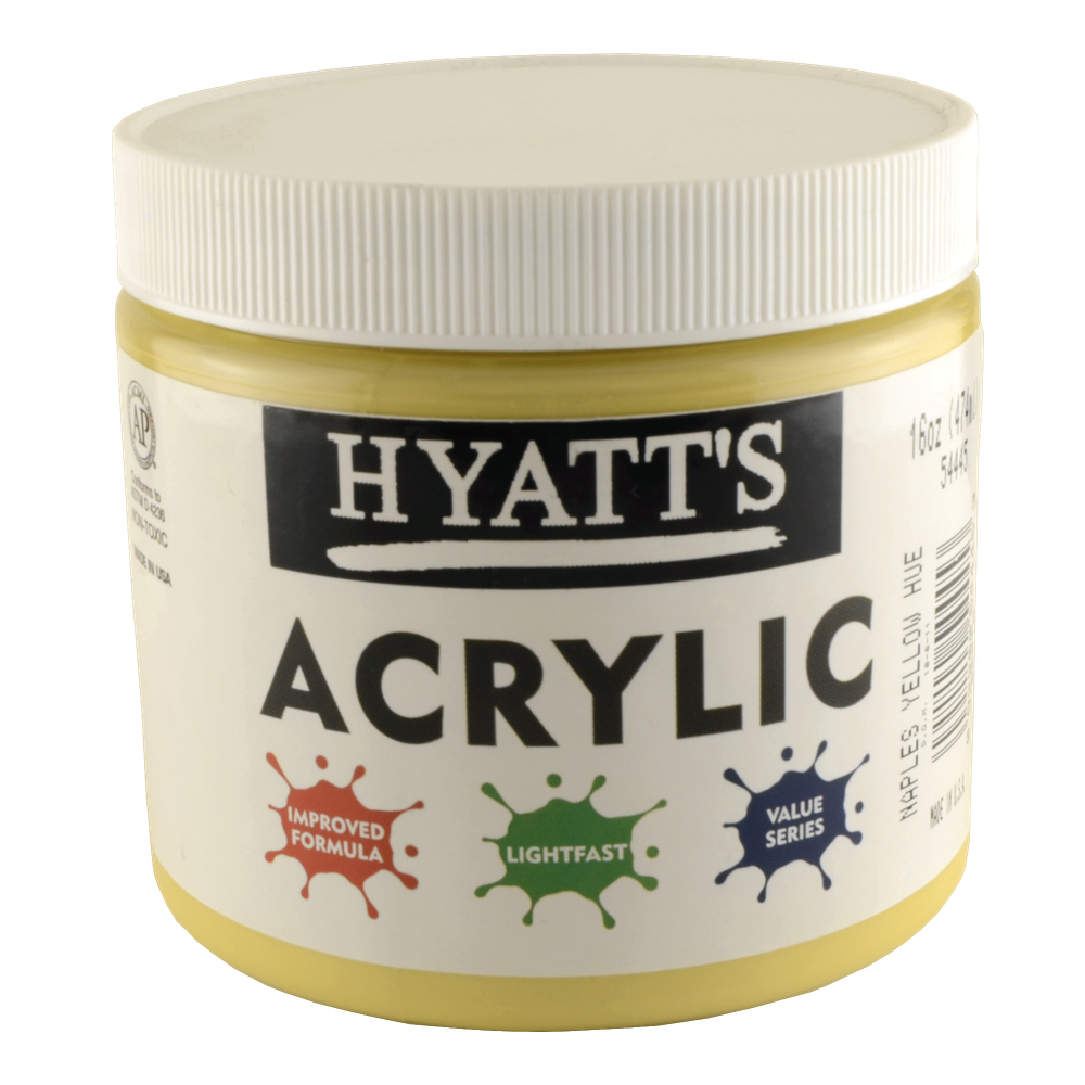 Hyatt's Acrylic 16 Oz Naples Yellow