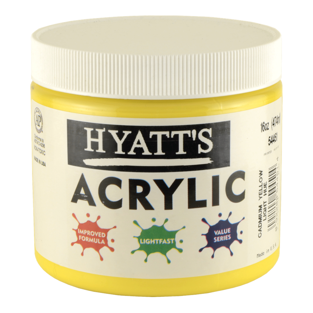 Hyatt's Acrylic 16 Oz Cad Yellow Light