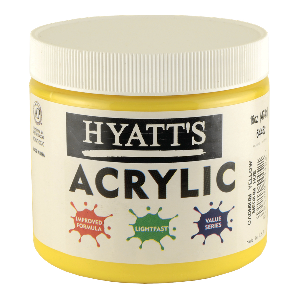 Hyatt's Acrylic 16 Oz Cad Yellow Med