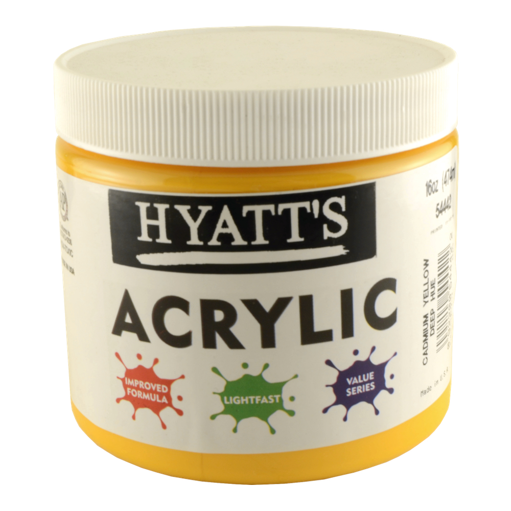 Hyatt's Acrylic 16 Oz Cadmium Yellow Deep