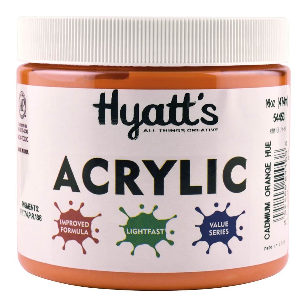 Hyatt's Acrylic 16 Oz Cadmium Orange