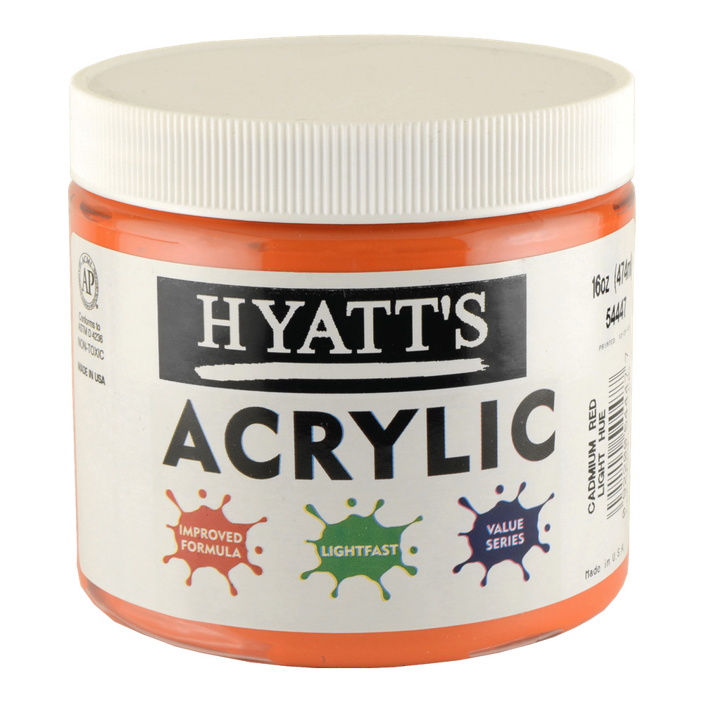 Hyatt's Acrylic 16 Oz Cadmium Red Light
