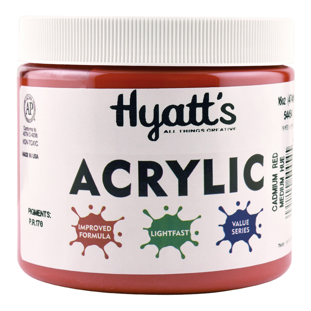 Hyatt's Acrylic 16 Oz Cad Red Medium