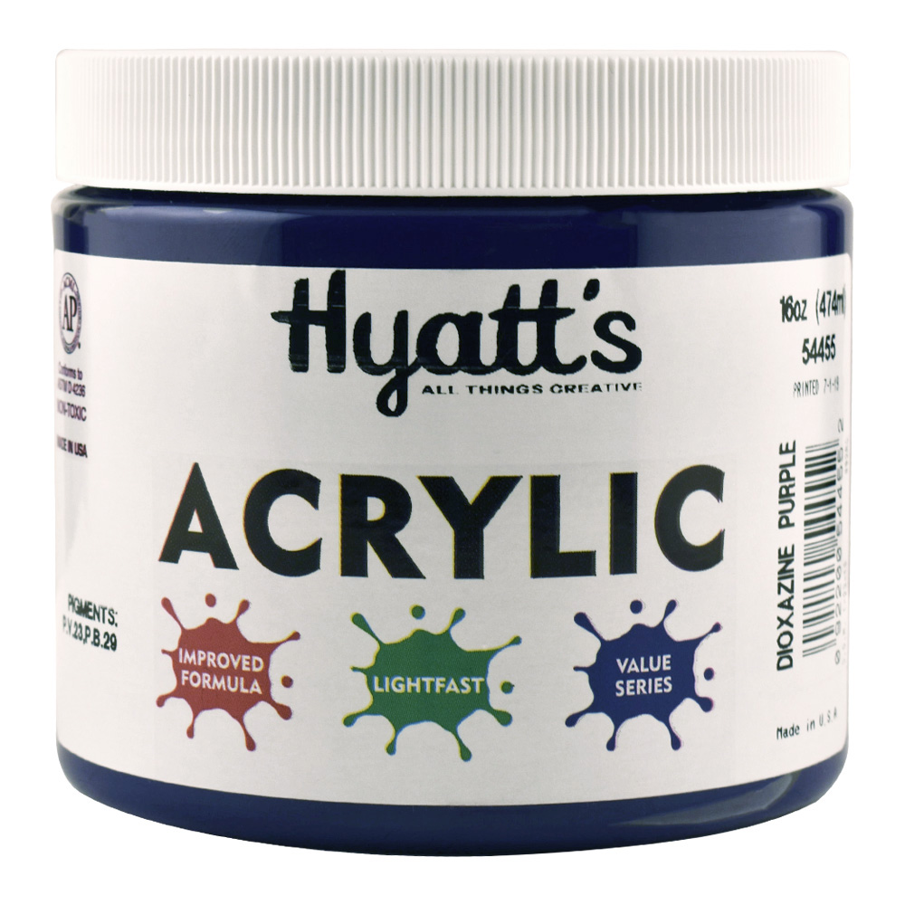 Hyatt's Acrylic 16 Oz Dioxazine Purple