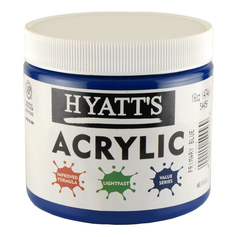Hyatt's Acrylic 16 Oz Primary Blue