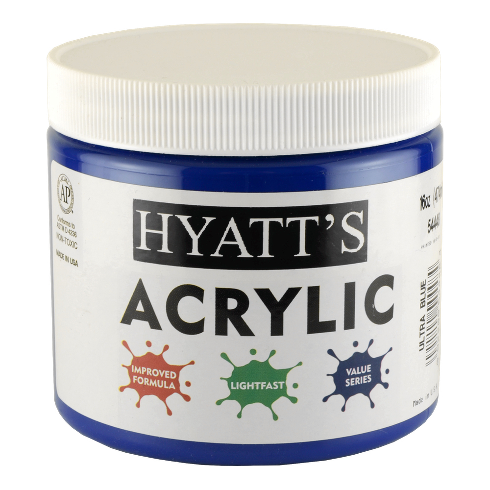 Hyatt's Acrylic 16 Oz Ultra Blue