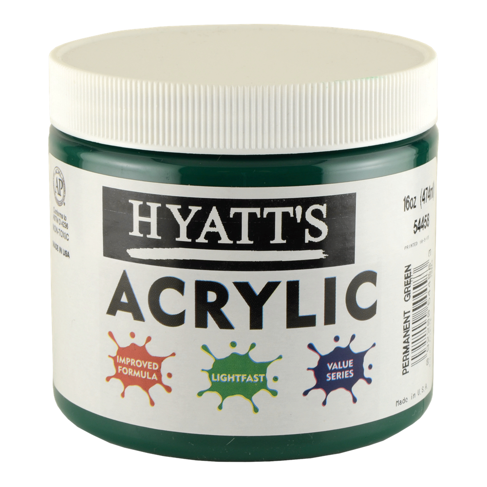 Hyatt's Acrylic 16 Oz Permanent Green