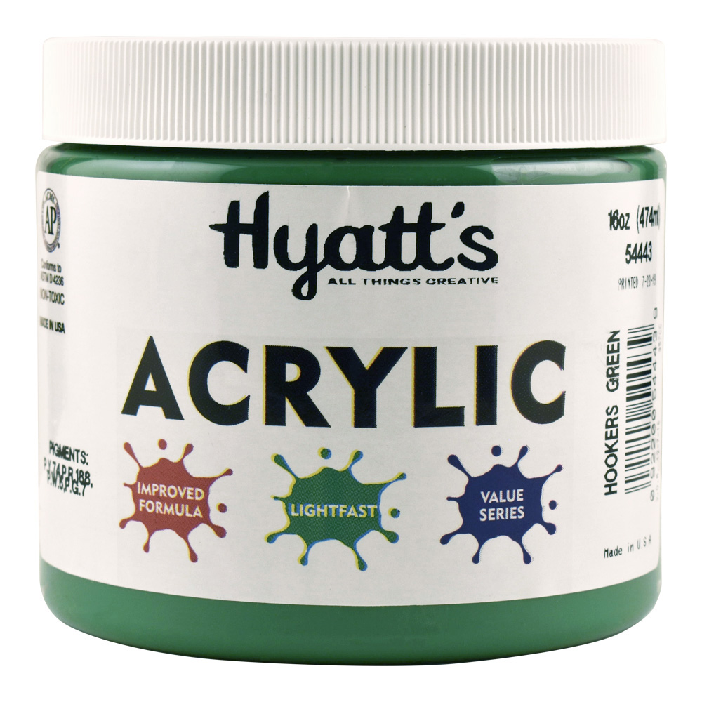 Hyatt's Acrylic 16 Oz Hookers Green