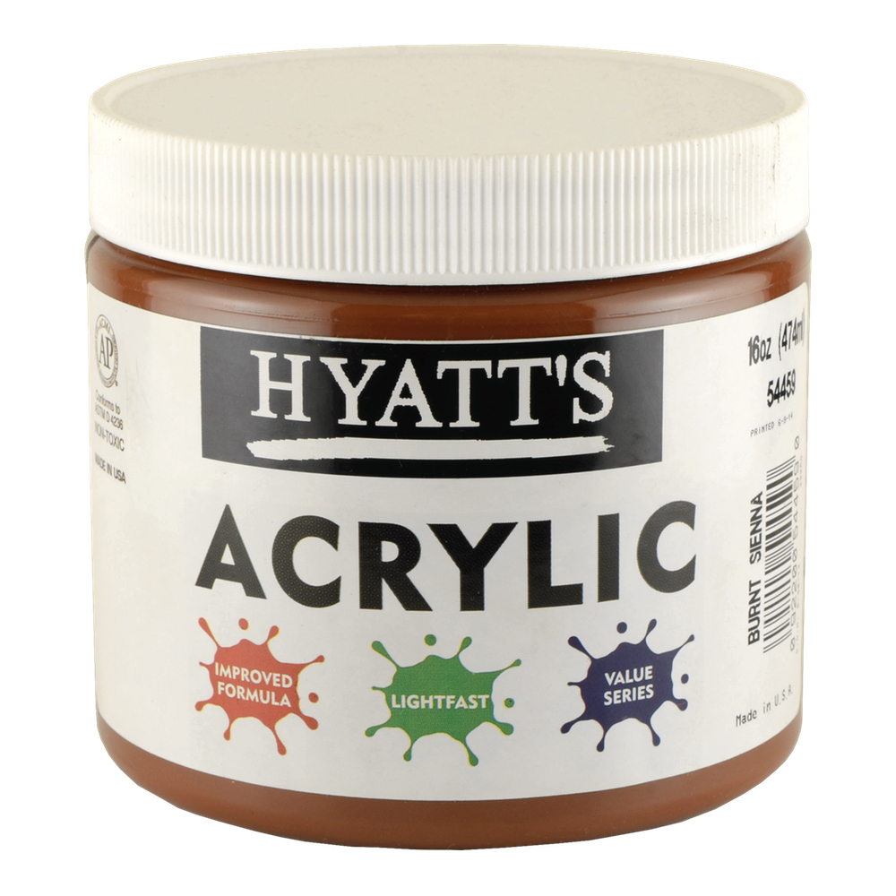 Hyatt's Acrylic 16 Oz Burnt Sienna