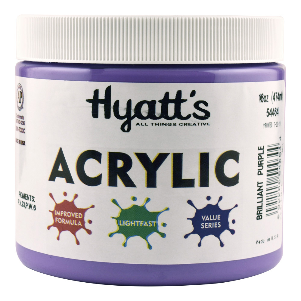 Hyatt's Acrylic 16 Oz Brilliant Purple