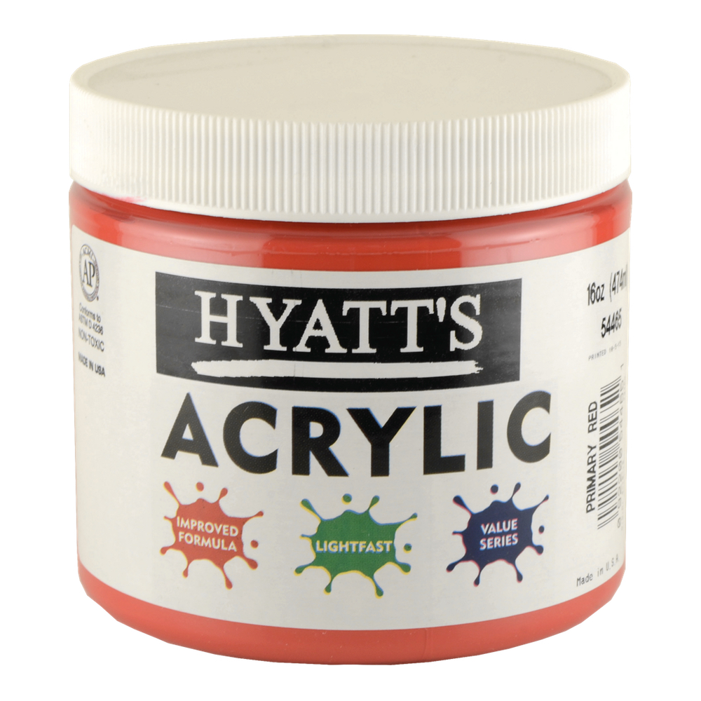 Hyatt's Acrylic 16 Oz Primary Red