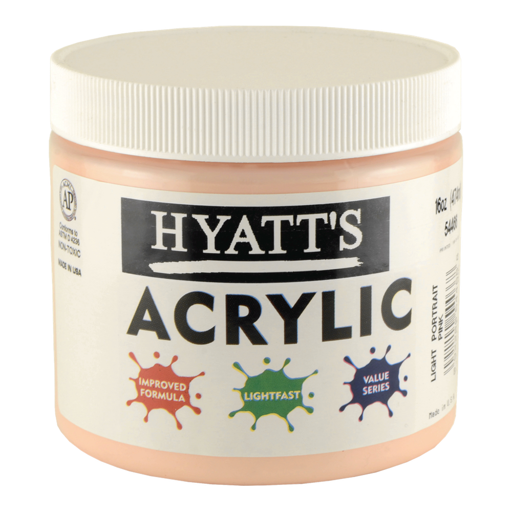 Hyatt's Acrylic 16 Oz Light Portrait Pink