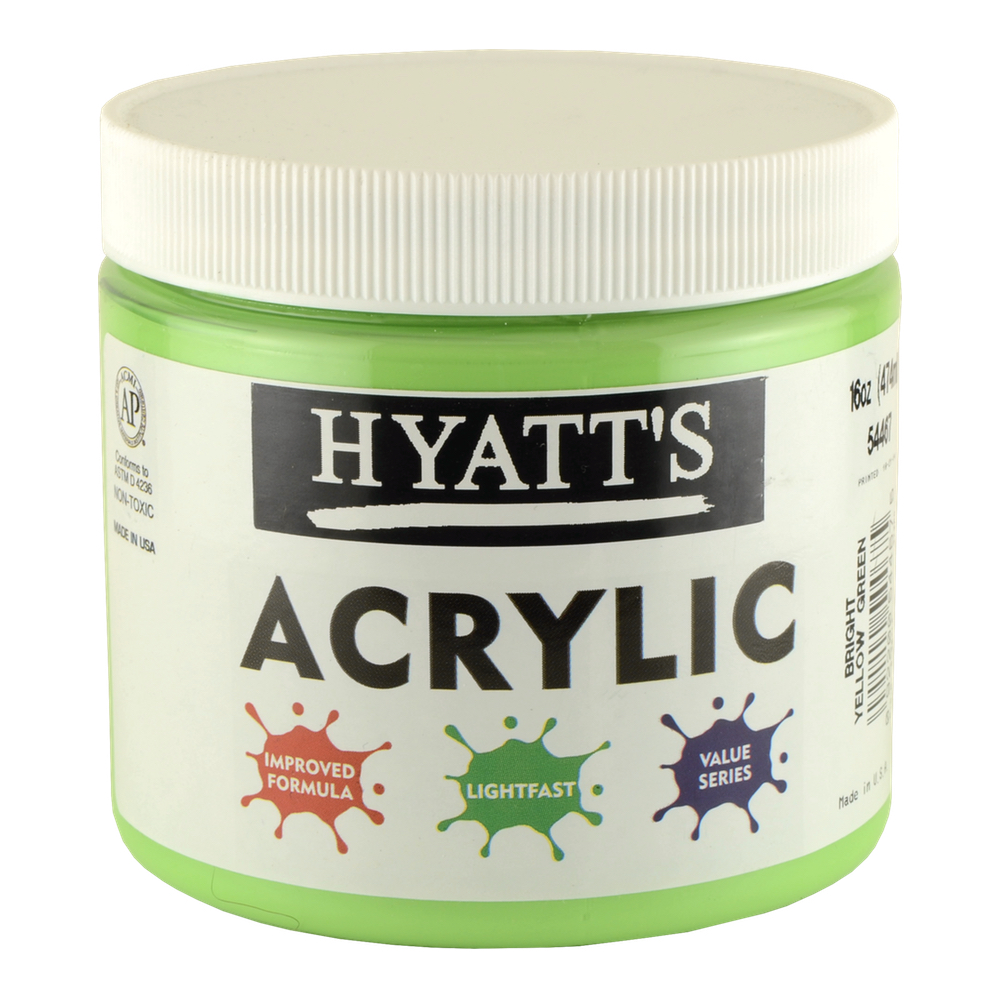 Hyatt's Acrylic 16 Oz Bright Yellow Green