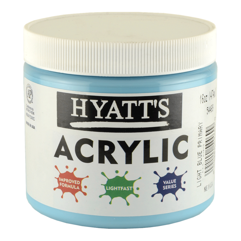 Hyatt's Acrylic 16 Oz Light Blue Primary