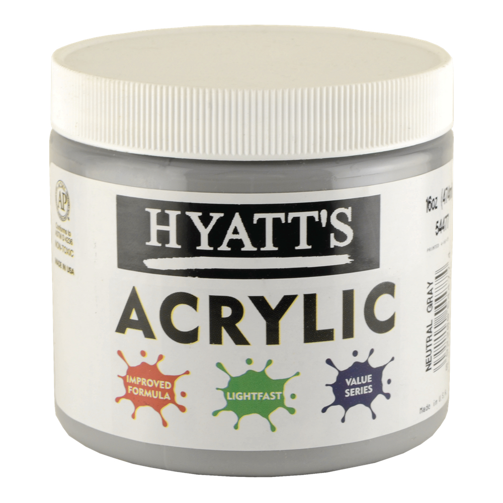 Hyatt's Acrylic 16 Oz Neutral Gray