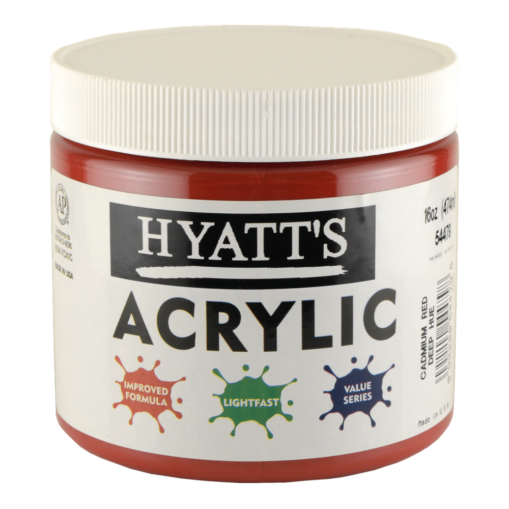 Hyatt's Acrylic 16 Oz Cadmium Red Deep