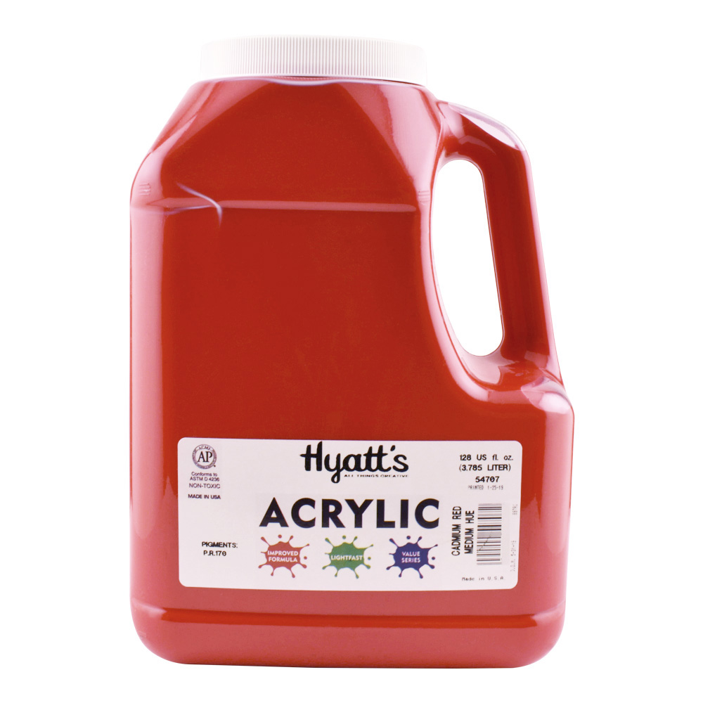 Hyatt's Acrylic Gallon Cad Red Medium
